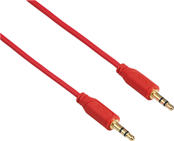 "3.5mm - 3.5mm ""Flexi-Slim"", Altın Uç,0.75m,Kırmızı"