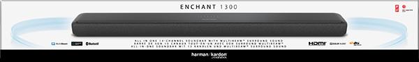 Enchant 1300, 13 Kanal Soundbar, Siyah