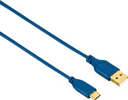 """USB-C Kablo, """"Flexi"""", 0.75m, Mavi"""