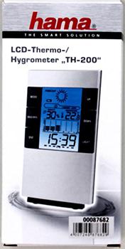 "LCD Termometre/Nem Ölçer ""TH-200"" Gümüş/Siyah"