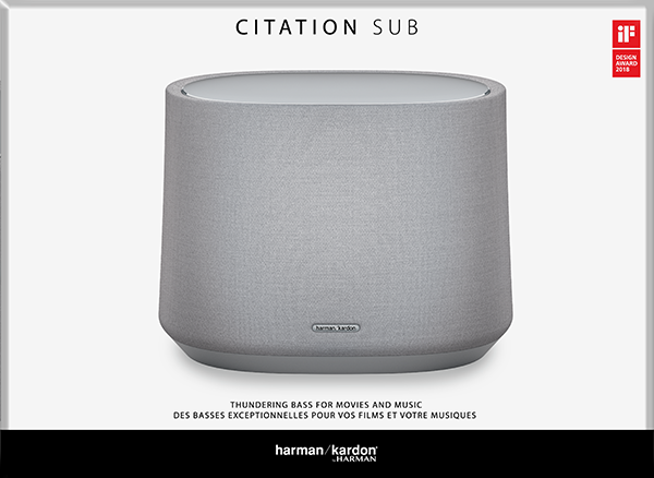 Harman Kardon Citation Wireless Subwoofer – Gri