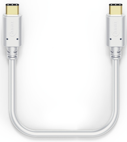 Hama 183330 1m USB-C - USB-C Şarj/Data Kablosu – Beyaz