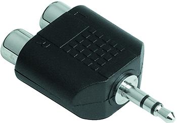 Adaptör 3.5mm Stereo Fiş - 2RCA Soket