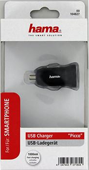 "Araç Şarj Cihazı USB ""Piccolino"" 1000mA"