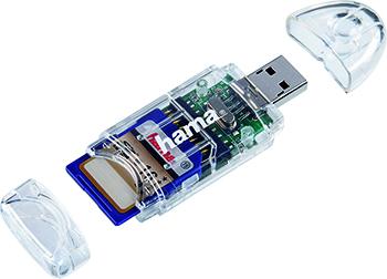 Kart Okuyucu USB 2.0 SD/MicroSD 8in1 Transparan
