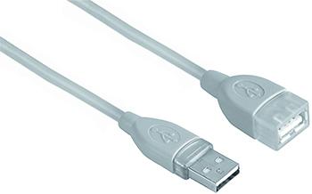 USB Uzatma 2.0 A Fiş - A Soket Gri 5m