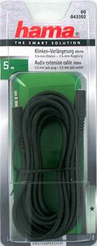 3.5mm - 3.5mm, Stereo Siyah 5m