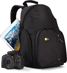 SLR Fotoğraf Makinesi, iPad Sırt Çantası, Siyah