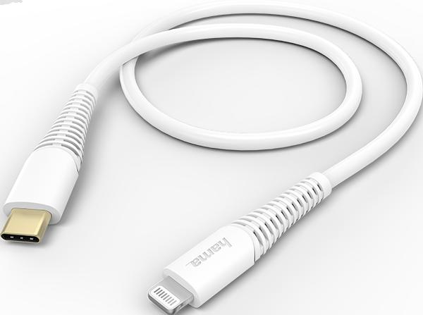 Hama 183309 1.5m USB-C - Lightning Hızlı Şarj/Data Kablosu - Beyaz