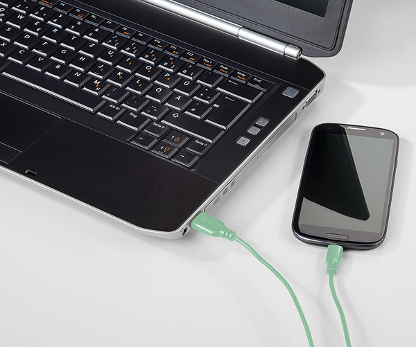 "USB-C Kablo, ""Flexi"", 0.75m, Yeşil"
