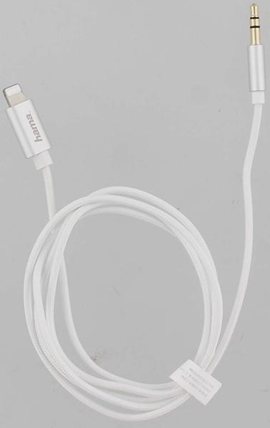 Hama 187211 1m Lightning - 3.5 mm Kablo - Beyaz