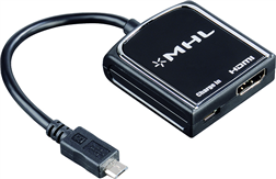 Adaptör MHL Micro USB Fiş - HDMI Soket Siyah